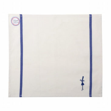 serviette de table bleue