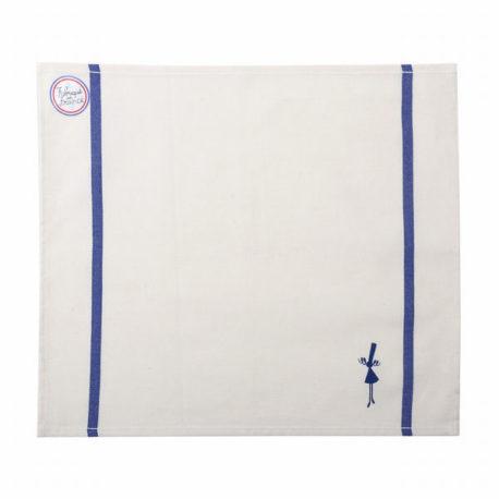 serviette de table bleue